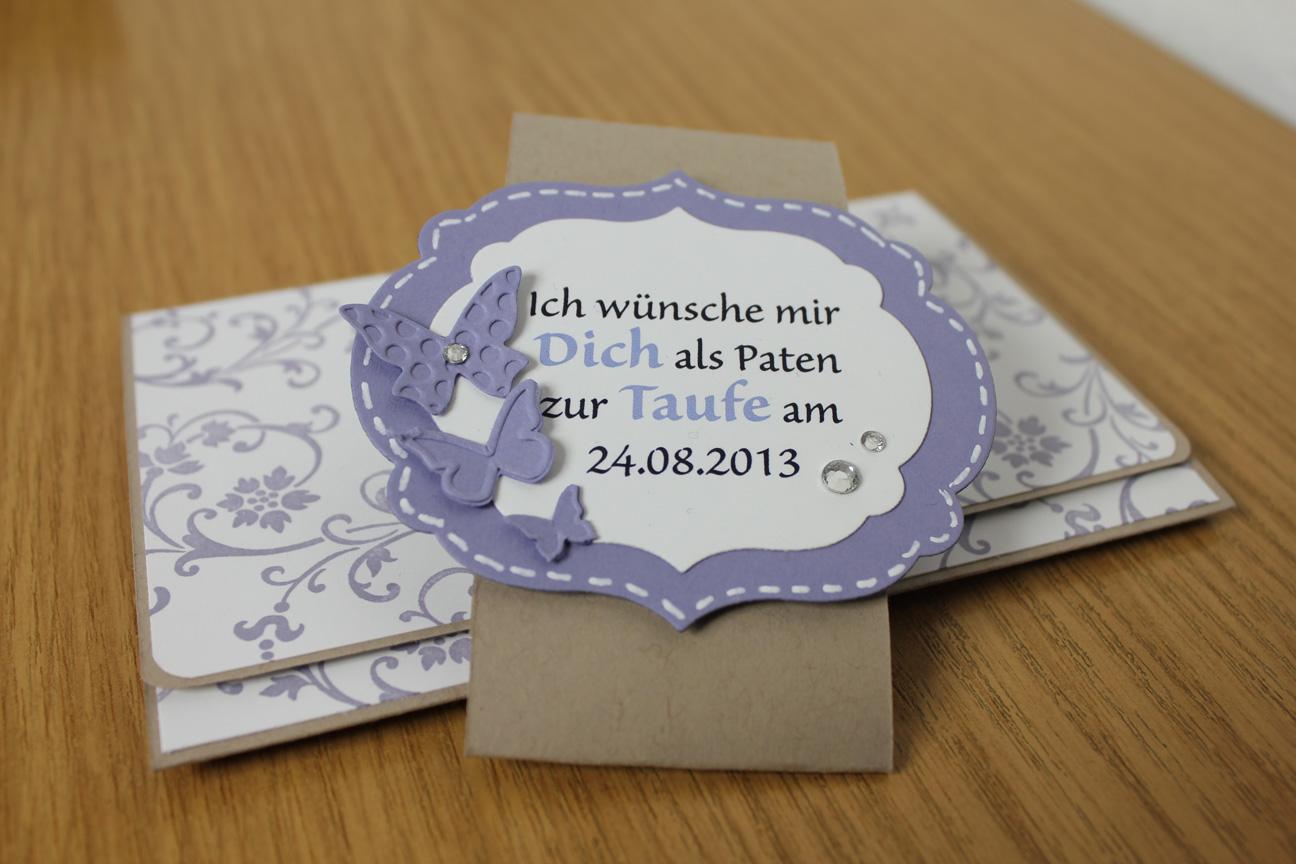 Auftragsarbeit: Einladungskarten für eine Taufe