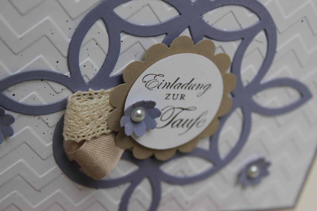 Einladungskarte/Taufe - Stempeldochmal - Basteln mit Stampin' Up!