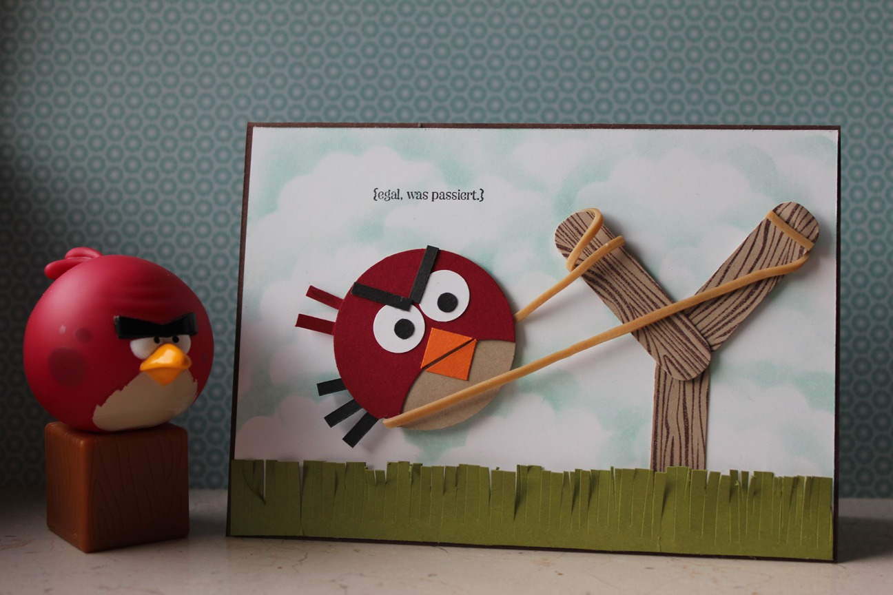 Angry-Birds-Karte - Stempel doch mal - Stampin' Up!